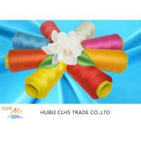Cheap Green / Yellow 100 Spun Polyester Sewing Thread Dyed Tube Anti - Pilling Good for sale