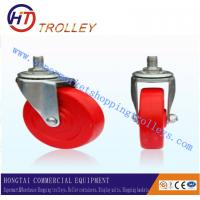 Best Supermarket Shopping Trolley Spare Parts Red Castor Without Bearing wholesale