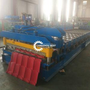 China Corrugated Metal Profile Floor Ppgi Tile Roll Forming Machine on sale