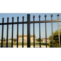 China SChina Manufacture Black galvanized & powder coating spear top wrought iron fence panel on sale