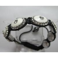China Custom Jewellery Shamballa Beads Bracelets Flower Crystal Bridal Jewelry Bracelet on sale