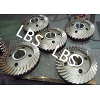 High Pressure Double Helical Gear Electric Water Pump Gearbox Parts Big Spiral Bevel Steel Material