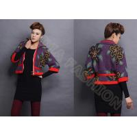 China Autumn Intarsia Knit Women Poncho Sweater Cardigan Coat In Flower Leaf Pattern With Full Zip Up on sale