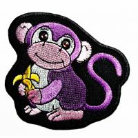 Animals Monkey Custom Iron On Patches Fabric Woven For Garment Jacket Clothing