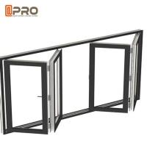 China Soundproof Aluminum Bifold Windows With Retractable Or Invisible Fly Screen commercial bi fold door corner bi fold door on sale