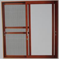 Cheap Powder coated, wood grain color aluminum sliding glass doors with 5mm - 12mm for sale