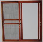 Best Powder coated, wood grain color aluminum sliding glass doors with 5mm - 12mm glass wholesale