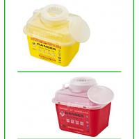 Best 5 Liter Square Plastic Sharps Waste Container For Hospital Use , Sharps Box For Needles wholesale