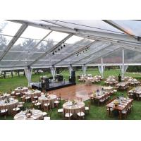 Buy cheap 500 People Clear Span Tents For Weddings Receptions With Transparent PVC Roof from wholesalers