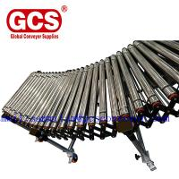 China Double Row Telescopic Skate Roller Conveyor/cut to length line roller unloading table/Flexible telescopic screw roller c on sale