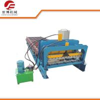 Best 1000 Model Step Roofing Tiles Roll Forming Machine Fully Automatic Blue Color wholesale