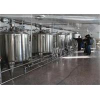 Best 1000L / H UHT Milk Processing Line Complete Combined Dairy Line wholesale