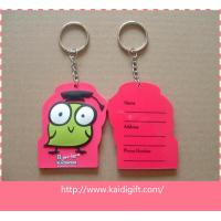 China Nice design PVC fitness keychain  key tag on sale