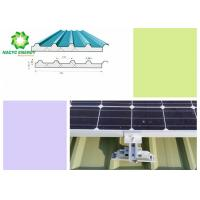 Best Premium Metal Roof Aluminum Structure Solar Bracket  Mounting  / PV Racking System Stainless Steel Bolts wholesale