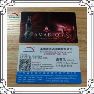 Best Free Design 3D Lenticular Business Cards 0.38mm PP Lenticular Printing wholesale