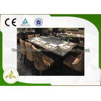 Best 7 Seat Electric Induction Teppanyaki Grill Table Basic Configuration CE ISO9001 Certification wholesale