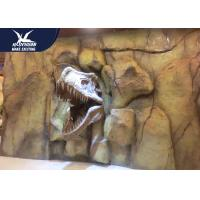Buy cheap Theme Park Dinosaur Fossil Replicas , 1.5M Mounted T rex Dinosaur Head On Wall from wholesalers