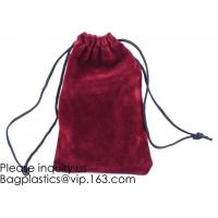 Best Trim Velvet Cloth Jewelry Pouches/Drawstring Bag Gift Bags,Wine Red, Blue, Red, Pink, Dark Green,Product Gift Bag PACK wholesale