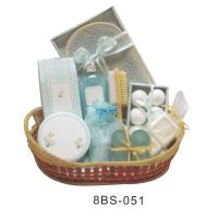 Best Herbal Bubble Bath Gift Set , 6 * 30 g Bath Hiss , Wooden Brush #8BS-051 wholesale