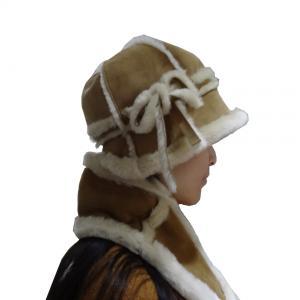 Best Keep Warm Australian Shearling Womens Hat Gloves Scarf Set Sheepskin Double Face wholesale