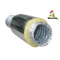 Best Round Acoustic Insulated Flexible Ducting , Silver Heat Resistant Flexible Hose wholesale
