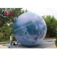 China Attractive Giant inflatable balloon lighting,Inflatable LED moon balloon Blow Up ball with Strong Material on sale