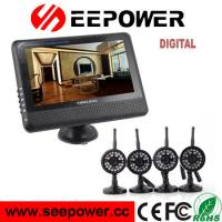 Best 4CH 7'' TFT LCD Wireless DVR Security System With Night Vision Camera For Home wholesale