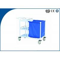 Best Three Layer Patients Laundry Collecting Trolley Hospital Medical Trolley with 3 layers wholesale