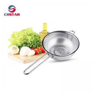 China Kitchen Strainer Colander Basket - Fine Mesh Net Quality Stainless Steel Kitchen Sieve Strainer, Draining, Salad and Noo on sale