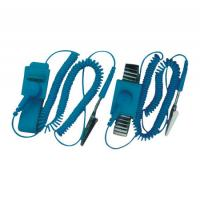 Best Professional Electrical Equipment ESD Wrist Strap With Wire , Rubber And Alloy Material wholesale