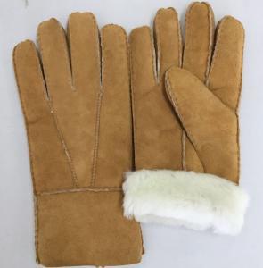 China comfortable sheepskin double face fur shearling women gloves on sale
