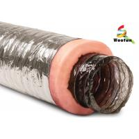 Best Air conditioning Fire Resistant Insulated Aluminum Flexible Ducting , Insulated Vent Ducting wholesale