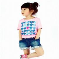 China Children's T-shirt with Printing, Various Colors and Sizes are Available, Made of Cotton on sale