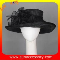 Best New design elegant Church sinamay hats for women ,Sinamay wide brim church hat wholesale