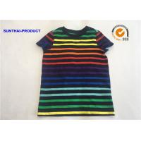 Best The Stripe Slub Slim Tee School Uniforms 100% Cotton Slub Jersey Short Sleeve Tee wholesale