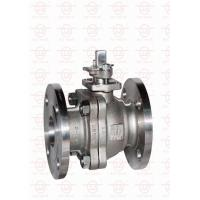 China 2 Piece Reduced Bore Ball Valve Anti - Blow Out Stem In Water Oil Gas on sale