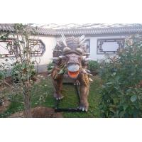 China Amusement Park Equipment Lifesize Artificial Dinosaur Mold For Business Show on sale