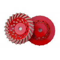Best 7 Double Row Diamond Cup Grinding Wheel For Stone Tools Grinding Granite wholesale