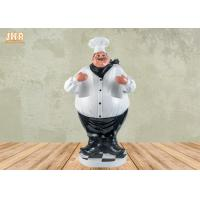 Buy cheap Antique Fat Chef Decor Polyresin Statue Figurine Resin Chef 2 Bottle Tabletop from wholesalers