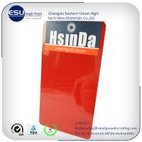 Red high gloss epoxy polyester powder coating