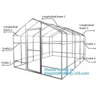 China hdpe woven greenhouse film, plastic roof transparent cover for green house,Good services hot galvanized structure big wa on sale