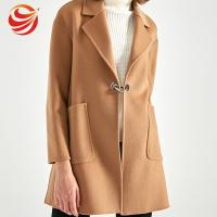 Best Formal Single Breasted Winter Camel Wool Coat For Ladies Fashion Style wholesale