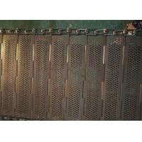China Robust Chain Mesh Conveyor Belt , Stainless Steel Mesh Belt Easily Cleaned And Recycled on sale