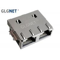 Best 1x2 Offset Rj45 Through Hole Connector Jack Tab Up 1G Without LED Supports PIP wholesale