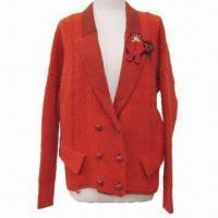 Best Women's Flat Knitted Outerwear, Jacket Style, Double Breasted, Loose Style wholesale