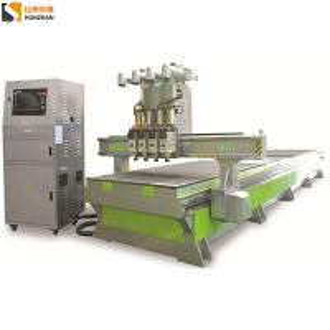 Best Honzhan HZ-R1325 Pneumatic Four Spindles Double Vacuum Table Stations CNC Cutting Machine wholesale