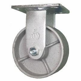 China Grey Iron Casting Swivel Caster Wheels Heavy Duty / Semi Steel Cast Iron Caster Wheels on sale