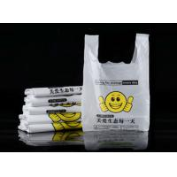 China Semi Clear PO Material Supermarket Plastic Bags For Commodities on sale