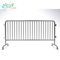Best Removable Galvanized Crowd Control Barrier Systems With Flat Bases For Concert Event wholesale