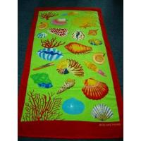 China 100% Cotton Reactive Printed Beach Towel on sale